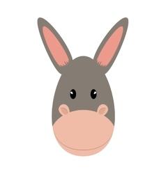 Donkey icon cute animal design graphic vector