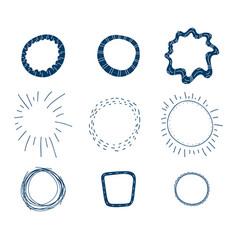 doodle frames set vector image