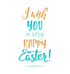 Easter calligraphic card vector