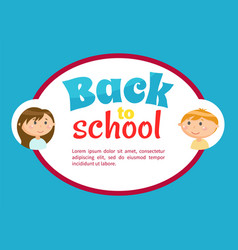 education board back to school pupils vector image