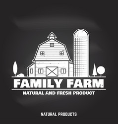 Family farm badges or labels vector