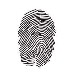 Fingerprint icon finger print flat scan vector