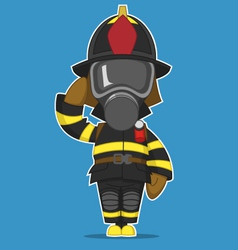 Firefighter salutes vector