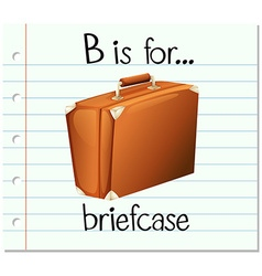 Flashcard letter B is for briefcase vector