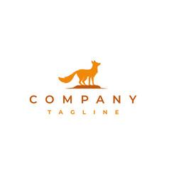 fox logo design vector image