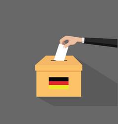 german election vote concept vector image