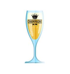 glass icon flat style white wine symbol vector image