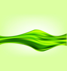green abstract wave silk texture abstract vector image