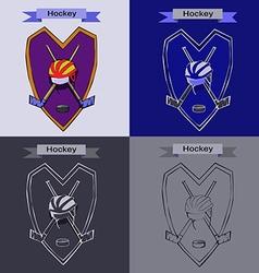Hockey Badge Emblem Symbol vector image vector image