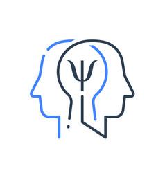 Human head profile and psychology symbol vector