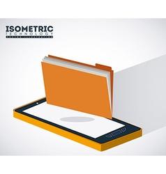 Isometric design vector