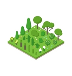 Isometric green tree set on field vector