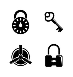 keys and lock simple related icons vector image