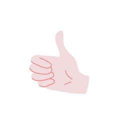 like sign - human hand showing thumbs up gesture vector image