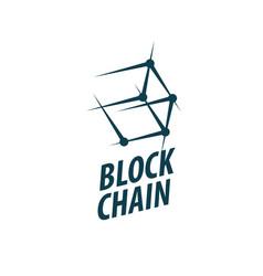 Logo blockchain vector