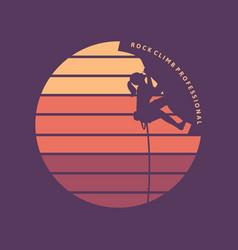 Logo design rock climb professional vector