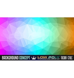 Low Poly Art background for your polygonal flyer vector image
