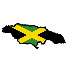 Map in colors of Jamaica vector image