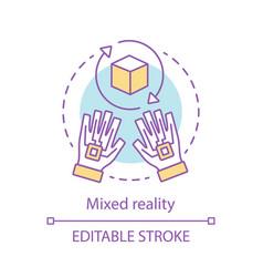 Mixed reality concept icon vector