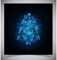Modern abstract christmas tree eps 10 vector