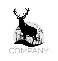 modern deer logo vector image