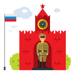 moscow flat style colorful cartoon vector image