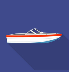 motor boat icon flat style vector image