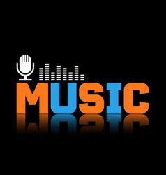 Music banner or flyer design vector