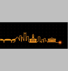 nashville light streak skyline vector image
