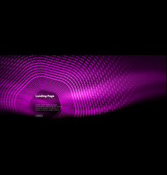 Neon glowing techno hexagon shape lines hi-tech vector