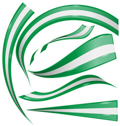 nigeria flag set isolated on white background vector image