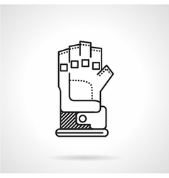 Paintball glove black line icon vector