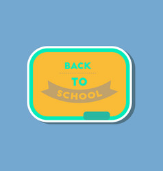 Paper sticker on stylish background back to vector