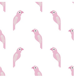 parrot ara seamless colorful pattern vector image