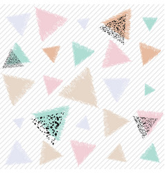 Pastel art with triangles vector