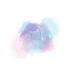 pastel snow abstract watercolor background vector image