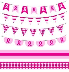 Pink ribbon Breast cancer awareness symbol vector