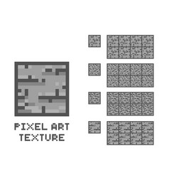 pixel art stone texture stone wall pattern vector image
