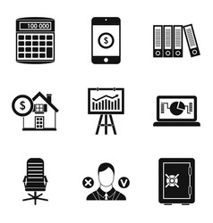 Pledge icons set simple style vector