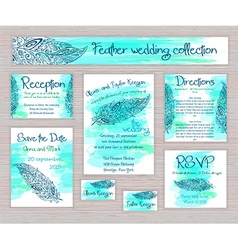 Printable wedding typography set of cards with vector