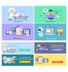 Process Research Planning and Learning vector image