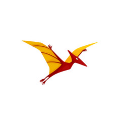 Pterodactyl isolated flying pteranodon dinosaur vector