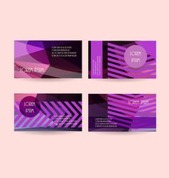 purple leaflet flyers header website backgrounds vector image