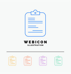 report medical paper checklist document 5 color vector image