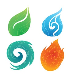 Sand water wind fire vector