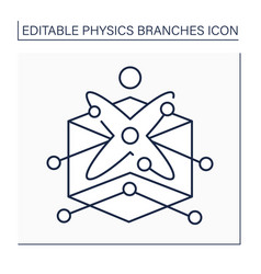Solid-state physics line icon vector