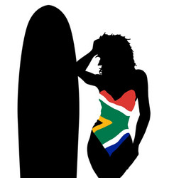 south africa swimsuit vector image