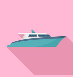 speed motor yacht icon flat style vector image