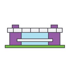 stadium line icon concept stadium flat vector image