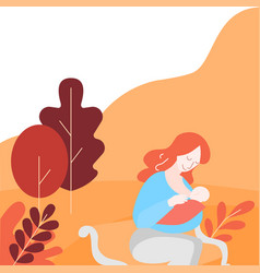 Support breastfeeding in public place vector